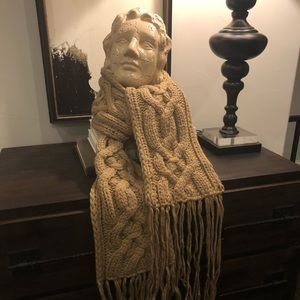 Hand knit cable scarf from Banana Republic